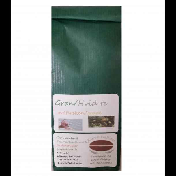 Grøn Hvid Fersken Grape te