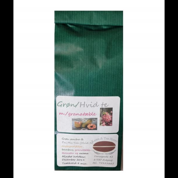 Grøn Hvid te med Granatæbleblomst