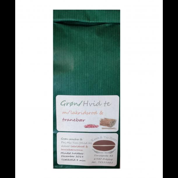 Grøn Hvid te med Lakrids og Tranebær