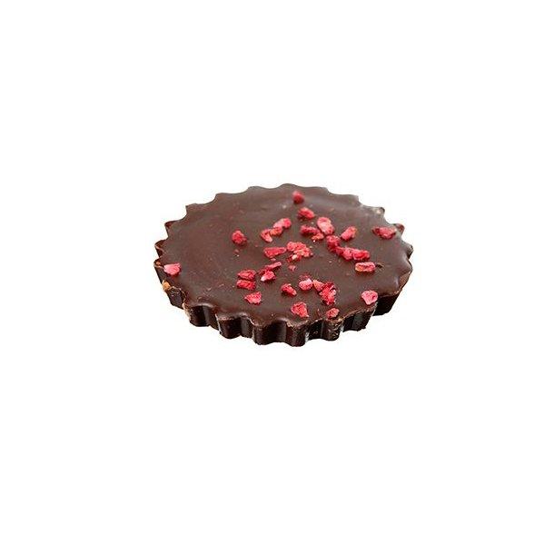 Hindbær/Karamel tærte